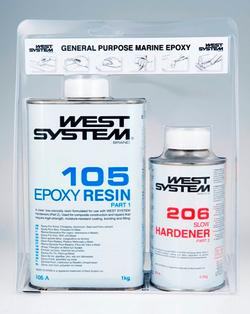 A-pakke: West System Epoxy 105/206 1,2 kg.