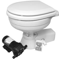 Jabsco Quiet Flush el. toilet Regular (Saltvand)