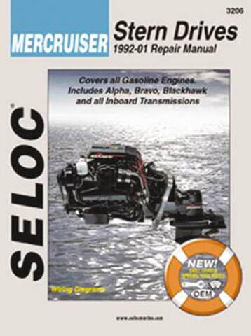 Reparationsmanual for indbordsmotor Mercrusier 1992-2001