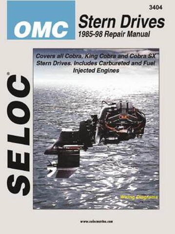 Reparationsmanual for indbordsmotor OMC Cobra 1985-1998.