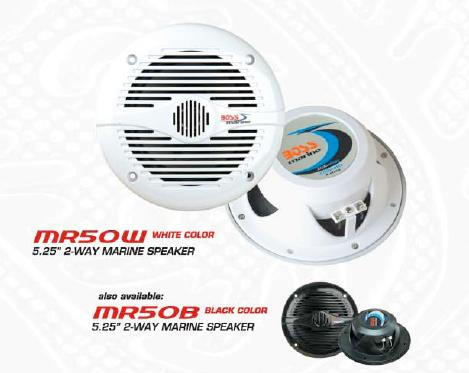"BOSS MR50W: 5.25"" 2-Way Marine Speaker"