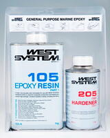 A-pakke: West System Epoxy 105/205 1,2 kg.